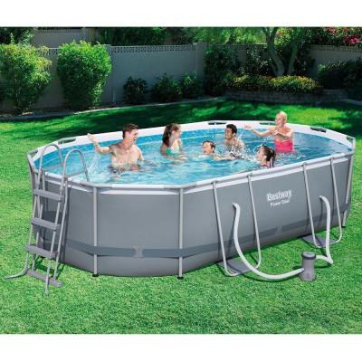 Bestway piscina fuoriterra 488x305x107cm con pompa filtro teli e scaletta 56448