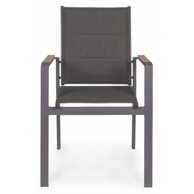 Set Tavolo Alluminio Antracite 4 sedie Bizzotto