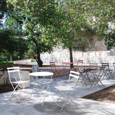 Set Bistrot Tavolo con 2 Sedie Pieghevoli da giardino per esterno in ferro