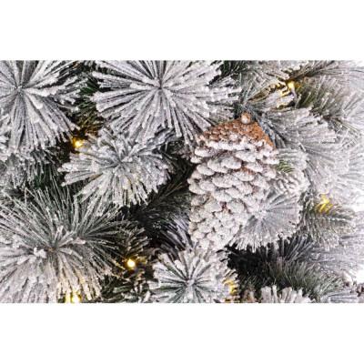 Albero di Natale Preilluminato Garlenda Glitter H.240