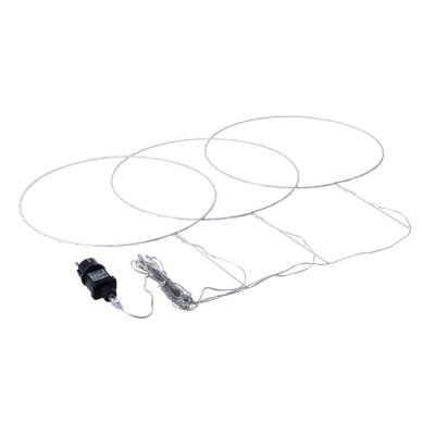 Decorazione 3 cerchi Bianchi 105 microled bianco diametro 35