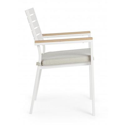 Sedia Con Braccioli C-C Delmar Bianca