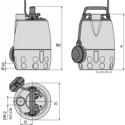 Elettropompa Calpeda sommergibile da drenaggio GXRM 11 0,5 HP 220V