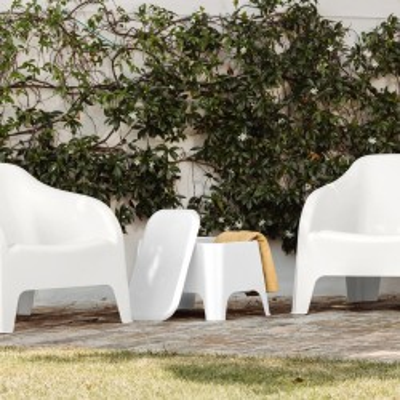 Tavolino da esterno Bianco con coperchio rimovibile Toomax